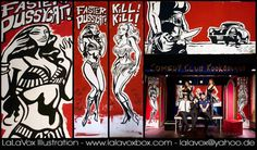© LaLaVox - www.lalavoxbox.com - Backdrop paintings for a Dr. Sketchy's Anti-Art School Berlin life-drawing session - https://www.facebook.com/drsketchyberlin/ - http://drsketchy-berlin.de/