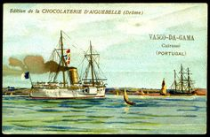 "https://flic.kr/p/hyk4vo | French Tradecard - Portugese Warship, ""Vasco-da-Gama"" 