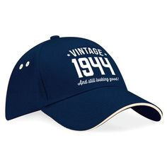 75th Birthday 1944 Baseball Cap Gift Keepsake Idea 75 Year