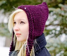 aa9a769aa59 Instant Download Knitting Pattern - Knit Hat Knitting Pattern - Knit Hat  Pattern for Signature Pixiebell Pixie Hat - Womens Accessories