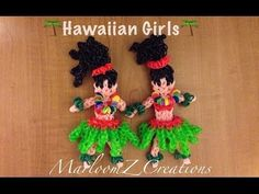 Rainbow Loom HULA GIRL Part 1 - Body. Designed and loomed by MarloomZ Creations. Click photo for YouTube tutorial. 05/04/14.
