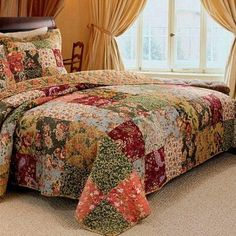 French Country Patchwork Cotton Quilt Set