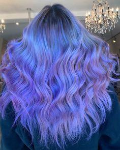 Inspiring Pastel Hair Color Ideas – My hair and beauty Cute Hair Colors, Beautiful Hair Color, Hair Dye Colors, Cool Hair Color, Periwinkle Hair, Hair Color Purple, Blue Hair, Lilac Hair, Green Hair