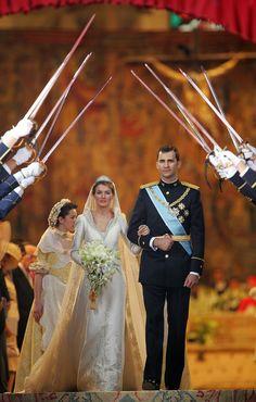 Wedding of Prince Felipe of Asturias and ms Letizia Ortiz on May 22, 2004 in Madrid