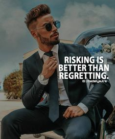 Taking a risk makes you feel atleast you tried, but regretting can't bring back the time and leaves you forever in guilt. Boss Quotes, Men Quotes, Wisdom Quotes, Life Quotes, Qoutes, Study Quotes, Motivational Quotes For Success, Inspirational Quotes, Quotes Positive