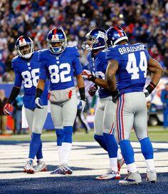 New York Giants 88 Hakeem Nicks 82 Mario Manningham 80 Victor Cruz 44 Ahmad Bradshaw