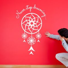 Never Stop Dreaming Dream Catcher Wall Sticker by ZygoMax on Etsy