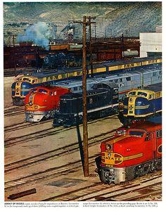 Trens e Locomotivas by Daniel Alho / Santa Fe Diesels at Barstow Arizona.
