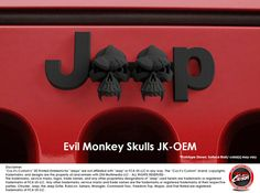 #CuzitsCustom Evil Monkey Skulls Emblem for Jeeps
