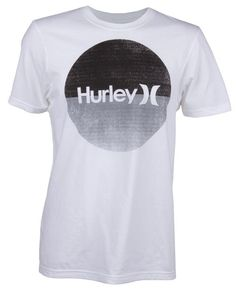 Hurley's rad Krush and Only Split Tee has a basic style with split colors on the screen print