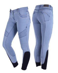 QHP Aileen Ratsastushousut on valmistettu kauniista vaaleasta denim-värisestä kankaasta ja täynnä pieniä yksityiskohtia Hv Polo, Equestrian Outfits, Couture, Perm, Skinny Jeans, Pants, Horses, Journal, Fashion