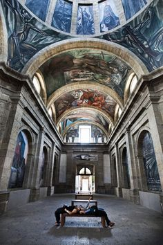 Orozco's murals | Instituto Cabañas | Guadalajara, Mexico. - I've been there before and it is absolutely amazing!