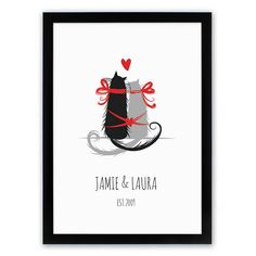 Personalised Purr-fect Love Framed Poster Cat Lovers, Dog Lovers or just people who love each other, are all going to adore our Personalised Framed Poster - Purr-fect Love. The two feline friends bound together with romantic red string are ne http://www.MightGet.com/january-2017-13/personalised-purr-fect-love-framed-poster.asp