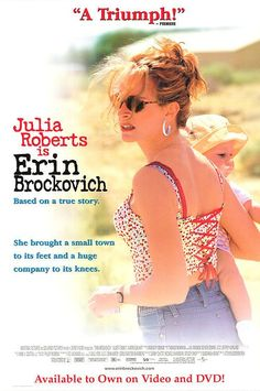 Erin Brockovich Movie Poster 27x40 Used Julia Roberts