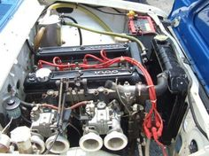 1968 Toyota Corona RT55 GT5 Coupe Vintage Race Car For Sale Engine