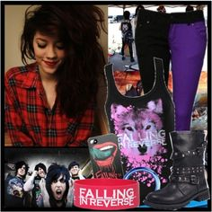 Falling in Reverse Style Me, Scene Style, Scene Outfits, Falling In Reverse, Emo Goth, Scene Hair, Scene Clothes, Punk, Hair Styles