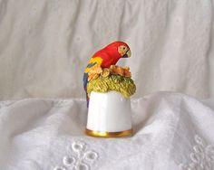 Vintage Parrot Thimble San Diego Zoo Thimble by cynthiasattic, $25.00