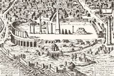 Engraving of the Hippodrome in 1600. Can you imagine when this was the bustling city-center?