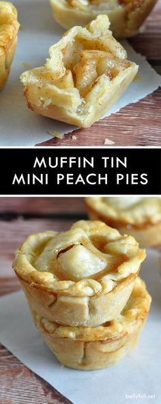 These Mini Peach Pies are super easy requiring only a few simple ingredients!