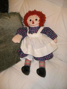 Vintage Raggedy Ann Doll.  I pulled all the hair out of mine!!