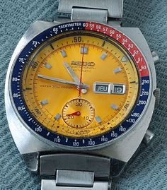 vintage watches   Vintage Watches: » #2673 Seiko Chronograph Automatic -late 60's