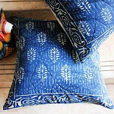 Outdoor Cushion Cover 16x16,Tie Dye Cushions Indigo Pillow Decorative Cotton Throw Shibori Pillow Cases Bohemian Pillow Shams Traditional Jaipur IC-013