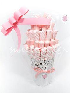 Maceta de nubes rosas