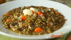 Lentil Soup Recipe - I used all organic vegetables, organic beef broth instead of water, sprouted green lentils & added more garlic, squeezed lemon at the end.very good recipe. Off the charts healthy. Lentils And Sausage, Sausage Soup, Cooking Recipes, Healthy Recipes, Meatless Recipes, Batch Cooking, Vegan Meals, Diabetic Recipes, Fall Recipes