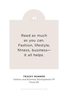 Tracey Manner, Fashion and Business Development VP Think PR