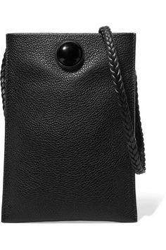 THE ROW Medicine Pouch pretty textured-leather shoulder bag