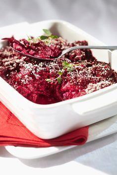 Punajuurilaatikko | K-ruoka #joulu Finland Food, Wine Recipes, Cooking Recipes, Christmas Food Gifts, Scandinavian Food, Seasonal Food, Vegetable Recipes, I Foods, Food Inspiration