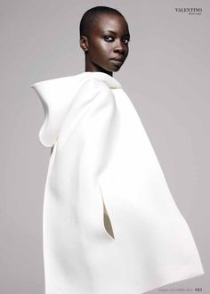 Danai Gurira in Instyle magazine, October 2013. #Valentino