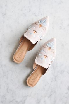 Brooklyn Embroidered Mules #fashion #shoes