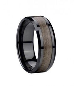 mens rings wood inlay | ... wood inlay ceramic rings ceramic wedding bands wood rings about 1 year