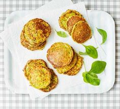 Sweetcorn & spinach fritters. I just used spinach, squash and a cube of bolognese