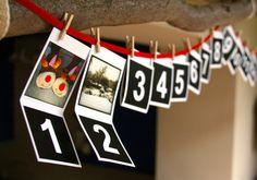 Personalisierte Foto-Weihnachten-Advent-Kalender von Instajunction