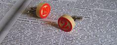 Custom cufflinks Bingo Tombola  Wooden Custom Cufflinks by Guendi