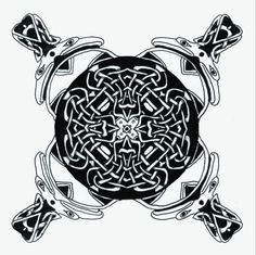 Celtic knotwork trippy psychadelic Ink painting  by CelticMandala