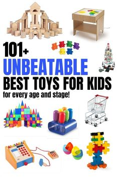 101 best toys for Popular toys for toddler boys toddler girls and preschoolers. Open-ended toys that promote play and learning toys that ignite language development imagination and problem-solving. Best Kids Toys, Toys For Boys, Best Toys, Toddler Boy Toys, Toddler Girls, Infant Lesson Plans, Learning Toys, Early Learning, Popular Toys