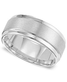A little wide. But cool Triton Men's White Tungsten Carbide Ring, Comfort Fit Wedding Band (9mm)