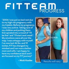 Check out my friend Nicki!!  What a transformation!!  You're next!! www.fitteam.com/fackler fitteamfrenzy@gmail.com