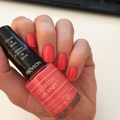 Some midweek pampering in Revlon Colorstay 'lady luck'  summer | coral hues | manicure | beauty | nails | fashion diaries | street style | love
