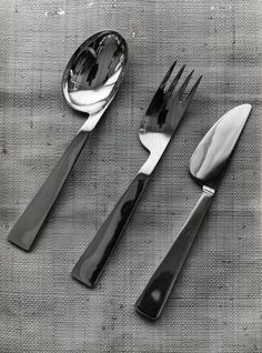 Gio Ponti; Flatware for Krupp Italiana, 1951.
