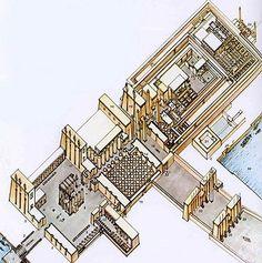 Reconstrucción del Conjunto sagrado de Karnak.