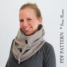 Infinity Scarf Sewing pattern. Scarf PDF sewing pattern. Unisex.. $7.95, via Etsy.