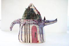 Teapot  Tea Pot  Wedding Gift  Ceramic Teapot  by CalacaCeramics