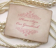 Wedding Sign  Guestbook Sign Pink  Darcy Style with by amaretto, $4.00