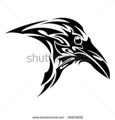 Find Tribal Crow stock images in HD and millions of other royalty-free stock photos, illustrations and vectors in the Shutterstock collection. Viking Raven, Viking Art, Celtic Symbols, Celtic Art, Arte Tribal, Tribal Art, Native Art, Native American Art, Rabe Tattoo