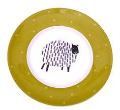 Dotty Sheep Side Plate by Ulster Weavers