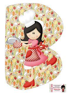 Alfabeto cocinera feliz.